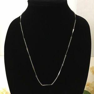 Vintage Avon Silver Tone Twist Bar Chain Necklace